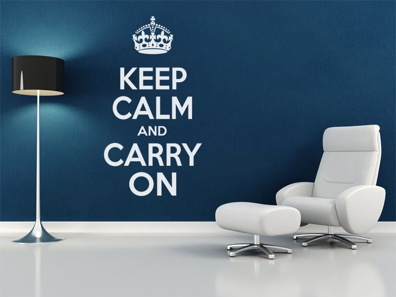 Keep Calm And Carry On Wall Art Quote Wall Sticker Modern